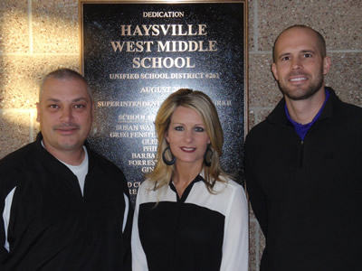 Administrators at Haysville West Middle School