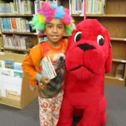Student with Clifford
