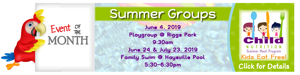 Summer Playgroups