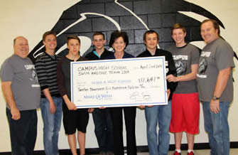 2014 Swim Team Donates to Make-A-Wish